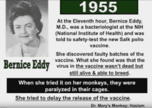 Cause of cancer bernice eddy dr mary monkey