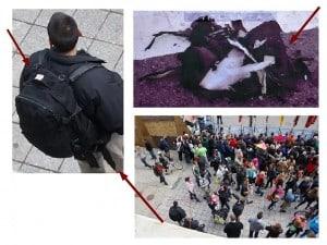 Boston False Flag: Craft agent has black backpack identical to one detonated