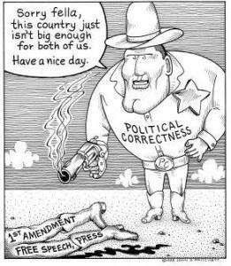 political correctness vs free speech 1st amendment