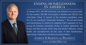 Andy 2016 presidential candidate Ending Homelessness