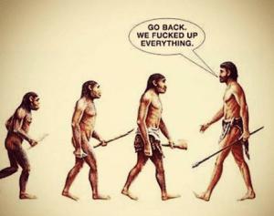 misconceptions evolution go back