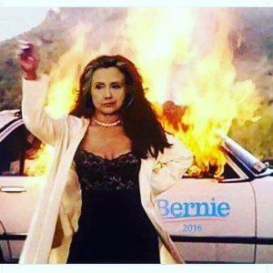 establishment candidate Hillary Clinton