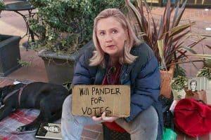 establishment candidate hillary pandering