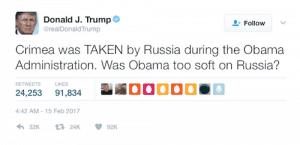 u-turn on russia trump crimea