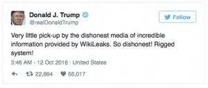 Trump's first 100 days wikileaks