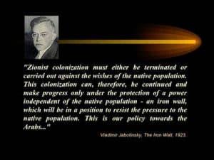 modern day propaganda zionism jabotinsky quote