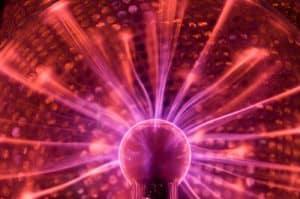 plasma ball electrified plasma gas