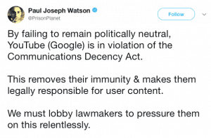 censored YouTube channels legal implications