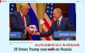 Trump hawkish russia