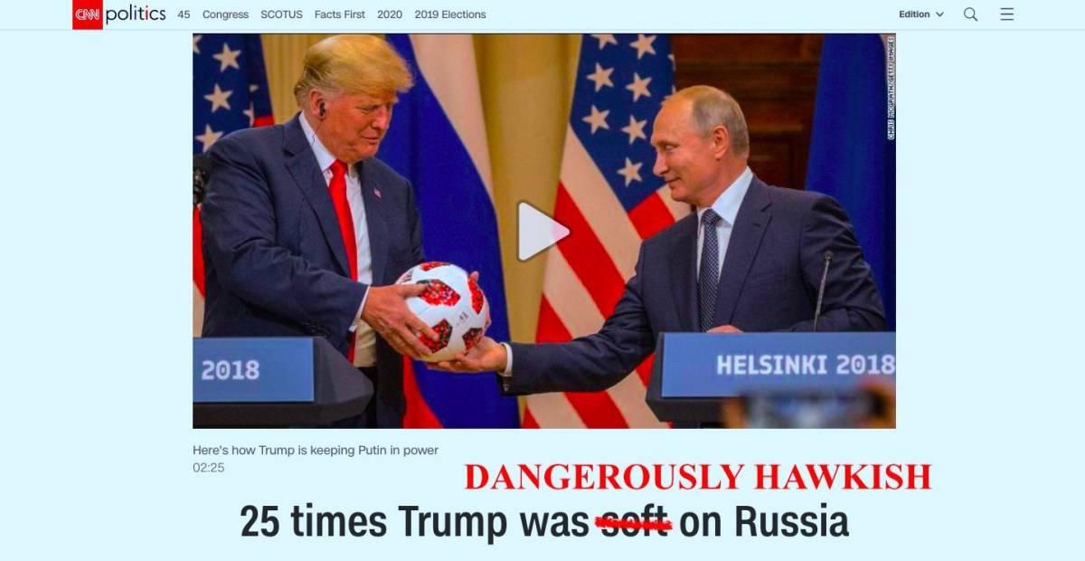 Trump hawkish russia