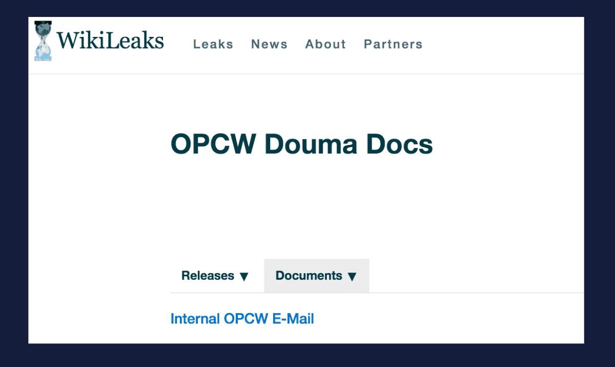 new OPCW leak