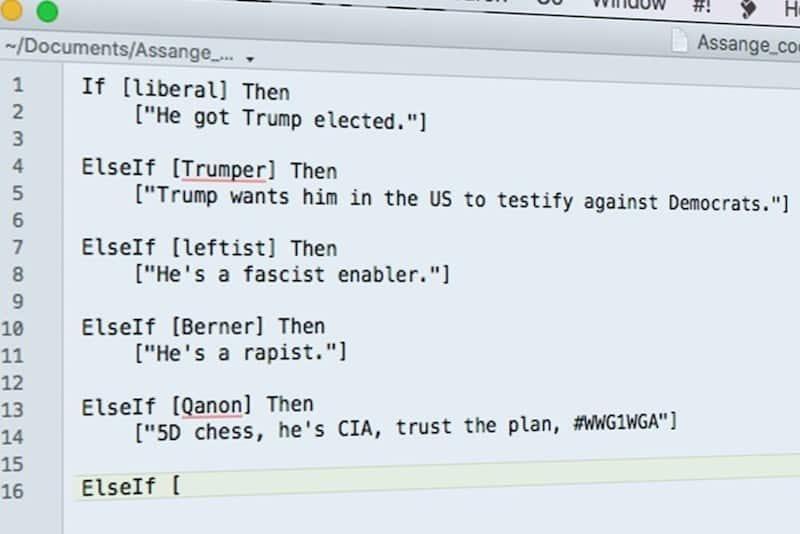 propaganda narratives assange smear