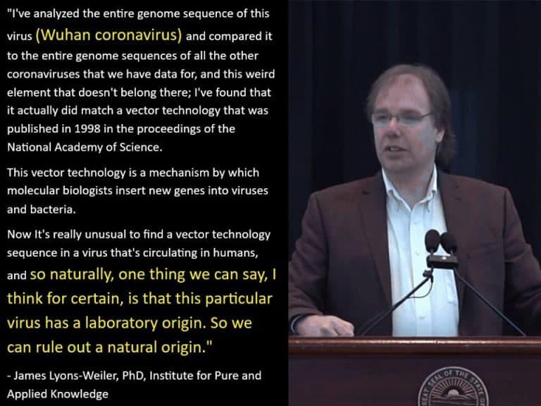 coronavirus manmade quote