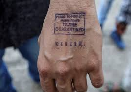 india hand stamp covid-19 coronavirus emergency powers