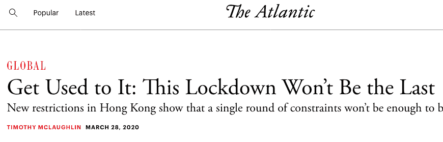 the new normal lockdown