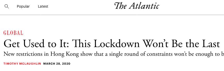 den nya normala låsningen