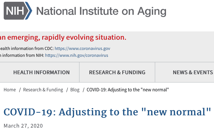 the new normal NIH