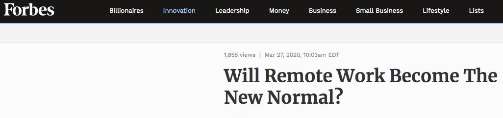 den nya normala Forbes