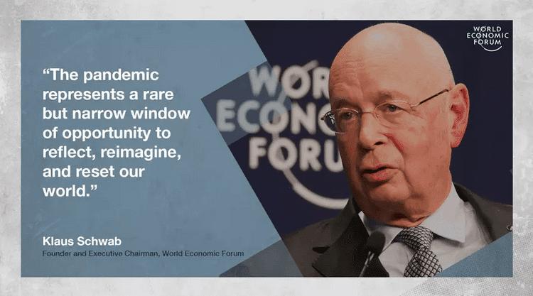 WEF klaus schwab pandemic opportunity reimagine